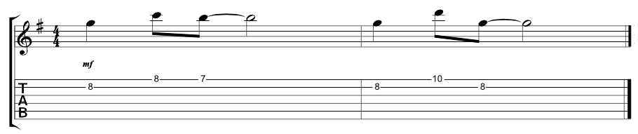 Lead Verse Riff 1