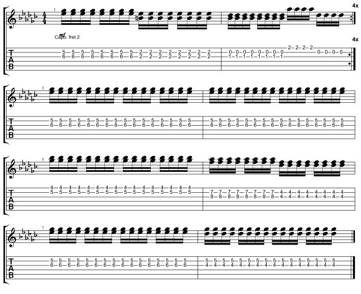 Rhythm Palm Muted Chorus