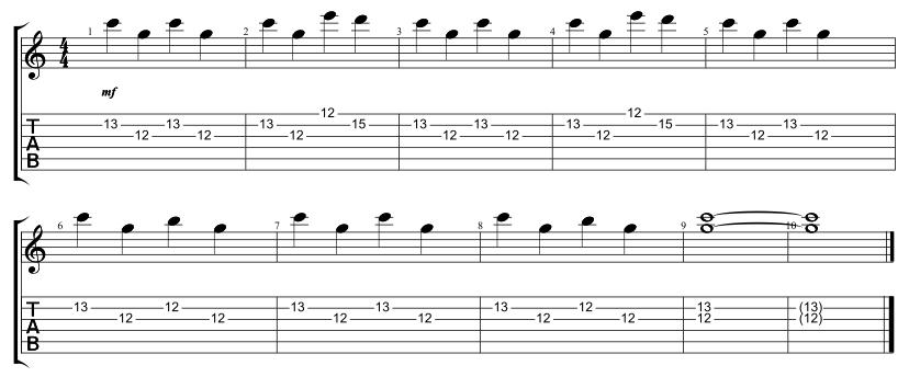Lead Chorus 1 Riff
