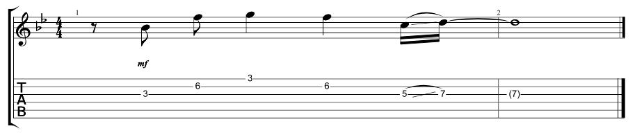 Lead Verse 1 Riff 1