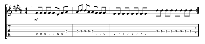 Lead Instrumental Riff