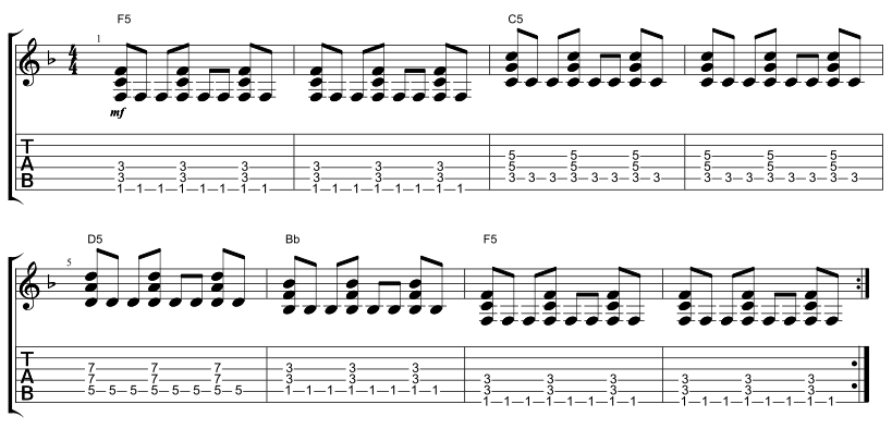 Acoustic Verse Pattern